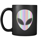 Alien Head Holographic Area 51 Glow Effect Mug - Extraterrestrial Coffee Cup - Luxurious Inspirations