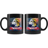 American Eagle Patriotic America 4th of July Proud USA Mug - Bad Ass 'Merica Flag Coffee Cup - Luxurious Inspirations