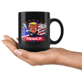 Angry Mad Trump American America Flag Patriotic Mug - Funny Cartoon Donald POTUS 'merica Coffee Cup - Luxurious Inspirations