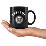 Anti You Funny Sarcastic Antisocial Mug - Black 11 ounce Coffee Cup - Luxurious Inspirations