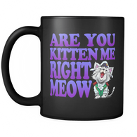 Are You Kitten Me Right Meow Mug - Funny Are You Kidding Me Right Now Cat Kitten Coffee Cup - Luxurious Inspirations