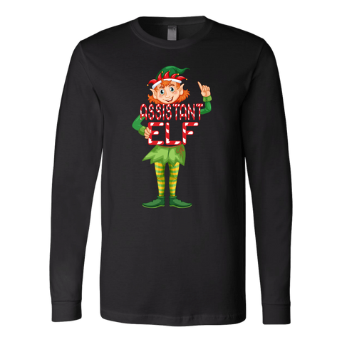 Assistant Elf Long Sleeve T-Shirt - Funny Christmas Elves Tee - Luxurious Inspirations