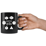Carpe DM DND dice games coffee cup mug - Luxurious Inspirations