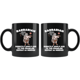 Barbarian Cat Black Mug - Funny Class DND D&D Dungeons And Dragons Coffee Cup - Luxurious Inspirations