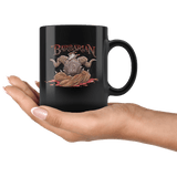 Barbarian Dice D12 DND Mug - Critical Rage Axe RPG Coffee Cup - Luxurious Inspirations