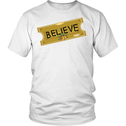 Believe Express Ticket For Santa 2017 Shirt - Polar Edition - Luxurious Inspirations