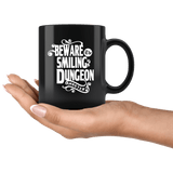 Beware The Smiling Dungeon Master Mug - Funny DND D&D DM Dice D20 Coffee Cup - Luxurious Inspirations