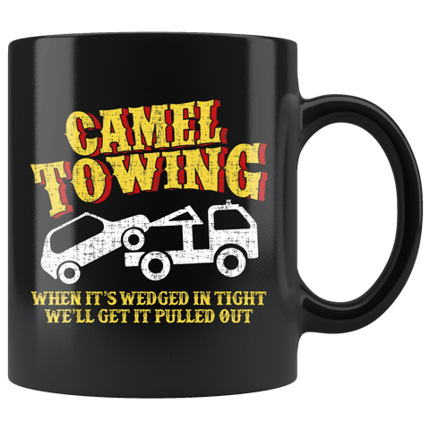 Camel Towing Service Mug - Funny Adult Humor Fun Camel Toe Coffee Cup - Luxurious Inspirations