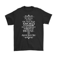 Canada Arise Sir Orc DND Shirt - Funny Dragons From Caves And Dungeons Tee T-shirt teelaunch Gildan Mens T-Shirt Black S