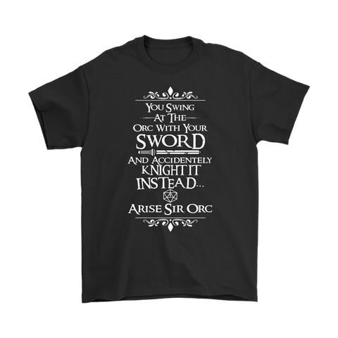 Canada Arise Sir Orc DND Shirt - Funny Dragons From Caves And Dungeons Tee - Luxurious Inspirations