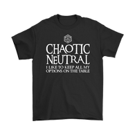 Canada Chaotic Neutral Shirt - Funny DND Dungeons and Dragons Tee T-shirt teelaunch Gildan Mens T-Shirt Black S
