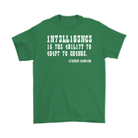 Canada Intelligence is the Ability to Adapt to Change Shirt - Funny Intelligent Decoder Tee T-shirt teelaunch Gildan Mens T-Shirt Irish Green S
