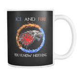Canada Stark Targaryen Mug - You Know Nothing Ice And Fire Coffee Cup - Luxurious Inspirations