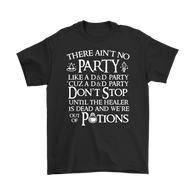 Canada There Ain't No Party Like A D&D Party Shirt - Funny Dungeons and Dragons DND Tee T-shirt teelaunch Gildan Mens T-Shirt Black S