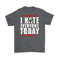 Canada This is My I Hate Everyone Today Shirt - Funny Offensive Vulgar Middle Finger Tee T-Shirt T-shirt teelaunch Gildan Mens T-Shirt Charcoal S
