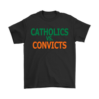 Catholics Vs. Convicts Vintage 1988 Football Shirt - Great Gift Fan Tee - Luxurious Inspirations