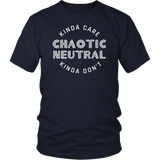 Chaotic Neutral Kinda Care Kinda Don't Funny DND DM RPG Tabletop T-Shirt - Luxurious Inspirations