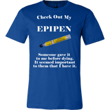 Check Out My Epipen Shirt - Funny Offensive Tee - Luxurious Inspirations