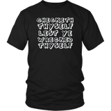 Checketh Thyself Lest Ye Wrecketh Thyself T-Shirt - Funny Parody Check Yourself Before You Wreck Yourself Tee Shirt - Luxurious Inspirations
