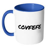 Covfefe #covfefe mug, funny Trump Twitter Quote. White 11 oz Coffee Cup 3 - Luxurious Inspirations