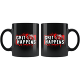 Crit Happens Mug - Funny DND D&D DM D20 Dice Coffee Cup - Luxurious Inspirations