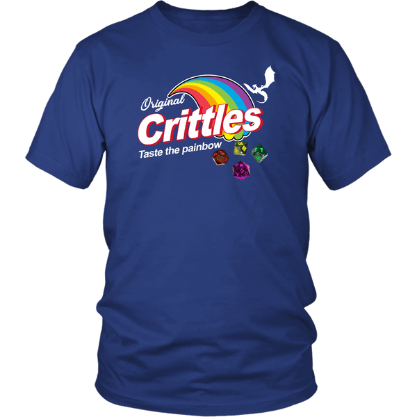 Crittles Taste The Painbow DND T-Shirt T-shirt teelaunch District Unisex Shirt Royal Blue S