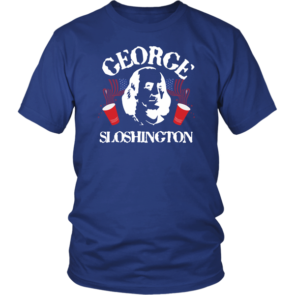 George Sloshinton Washington Drinking T-Shirt - Funny July 4th Independence Day Pride Tee Shirt - Luxurious Inspirations