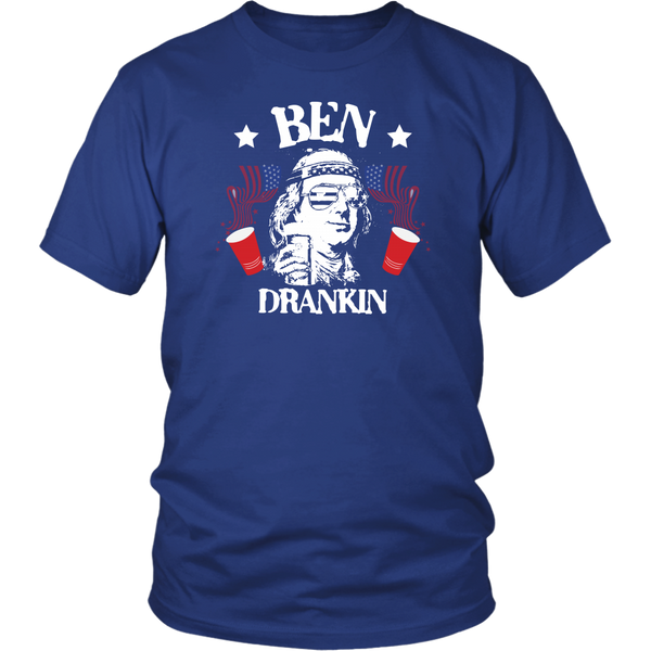 Ben Drankin Drinking Benjamin Franklin T-Shirt - Funny July 4th Independence Day Pride Tee Shirt - Luxurious Inspirations