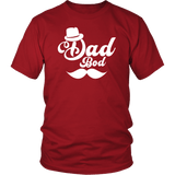 Dad Bod Funny Mustache Hat Father's Day T-Shirt - Luxurious Inspirations