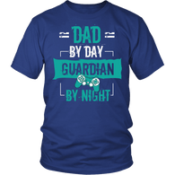Dad By Day Guardian By Night Shirt - Funny Papa Daddy Father's Day Gamer Gaming Game Tee - Luxurious Inspirations