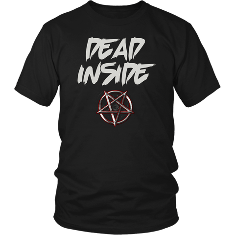 Dead Inside Goth Tee Shirt - Pentagram Undead Gothic T-Shirt - Luxurious Inspirations
