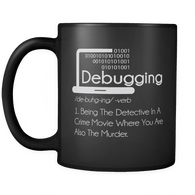 Debugging Definition Mug - Funny IT Programming Coding Code Programmer Coffee Cup - Luxurious Inspirations