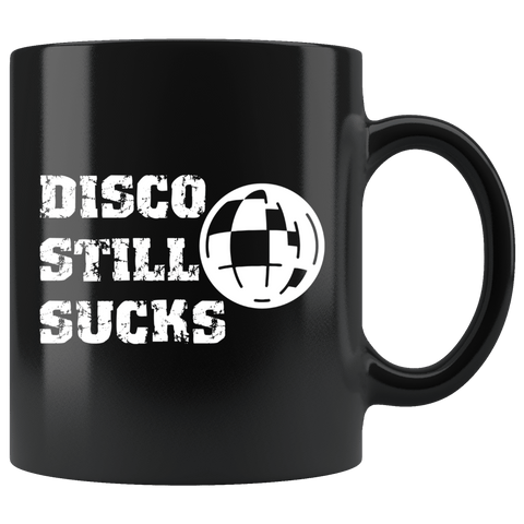 Disco Still Sucks Mug - Funny 70s Music Disco Ball Coffee Cup - Luxurious Inspirations