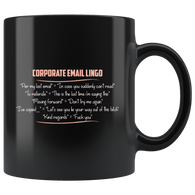 Corporate Email Lingo coffee cup mug - Luxurious Inspirations