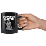 DM Dungeon Master Cat Black Mug - Funny Class DND D&D Dungeons And Dragons Coffee Cup - Luxurious Inspirations