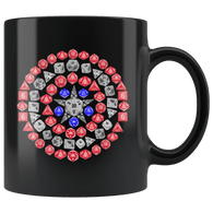 DND Captain Shield Mug - Funny Dice Art D20 Crit Geek RPG Roleplaying Coffee Cup - Luxurious Inspirations