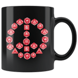 DND D20 Dice Peace Sign Mug - Funny RPG Critical Hit Role MMO Gaming Coffee Cup - Luxurious Inspirations