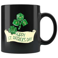 DND D20 St Patrick's Day Clover Patty Mug - Funny RPG Critical Hit Role MMO Gaming Coffee Cup - Luxurious Inspirations