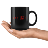 DND Dice Heartbeat Mug - Funny D&D D20 DM RPG Coffee Cup - Luxurious Inspirations