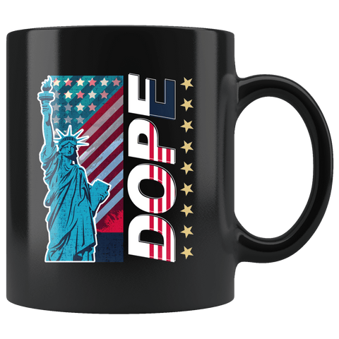 Dope Statue Of Liberty Mug - Patriotic America American Native Cool Trend Flag Freedom Coffee Cup - Luxurious Inspirations