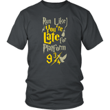 Double-Sided Run Like You're Late For Platform 9 3/4 Harry Wizard Funny T-Shirt - Luxurious Inspirations