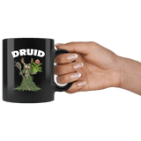Druid Cat Black Mug - Funny Class DND D&D Dungeons And Dragons Coffee Cup - Luxurious Inspirations
