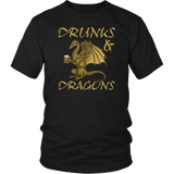 Drunks And Dragons Funny Alcohol DND DM RPG Tabletop T-Shirt - Luxurious Inspirations