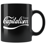 Enjoy Capitalism Parody Mug - Funny Surveillance Conscious Disaster Late of gore Coffee Cup - Luxurious Inspirations