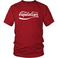Enjoy Capitalism Parody T-Shirt - Funny Surveillance Conscious Disaster Late of gore T Tee Shirt - Luxurious Inspirations