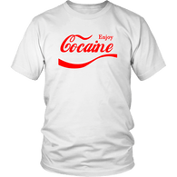 Enjoy Cocaine Parody T-Shirt - Funny Offensive Vulgar Drugs 420 Joke Tee Shirt - Luxurious Inspirations