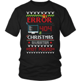 Error 404 Sweater Not Found Shirt - Funny Computer Ugly Christmas Sweater Geek Nerd IT Tee - Luxurious Inspirations