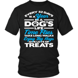 Every 52 Days Is A Year In A Dog's Life Shirt - Inspirations dog lover owner Teee T-shirt teelaunch District Unisex Shirt Black S