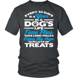 Every 52 Days Is A Year In A Dog's Life Shirt - Inspirations dog lover owner Teee T-shirt teelaunch District Unisex Shirt Charcoal S
