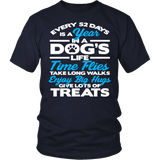 Every 52 Days Is A Year In A Dog's Life Shirt - Inspirations dog lover owner Teee T-shirt teelaunch District Unisex Shirt Navy S